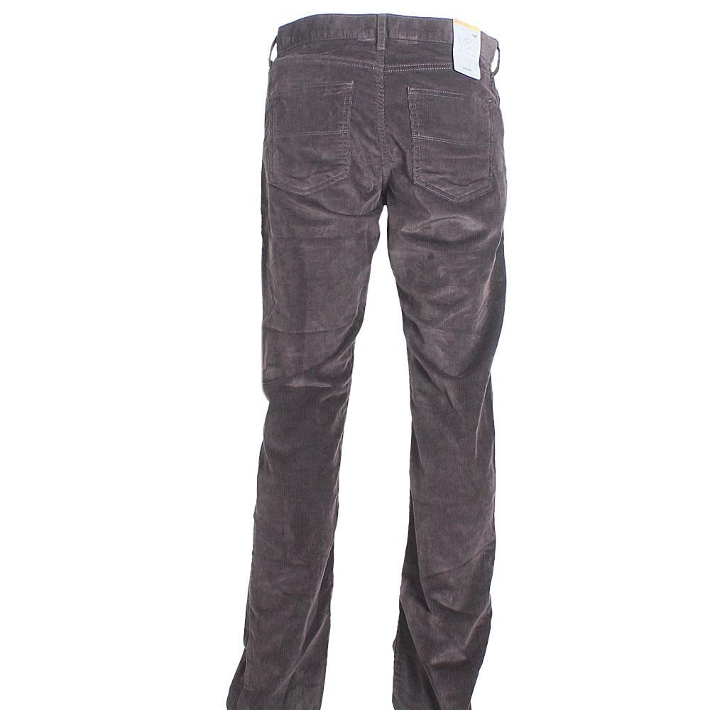 M & S Collection Brown Straight Cut Men Corduroy