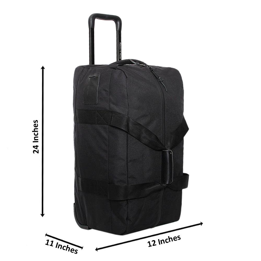 Black Marcus 24 Inch 2 Ways Carry On Luggage