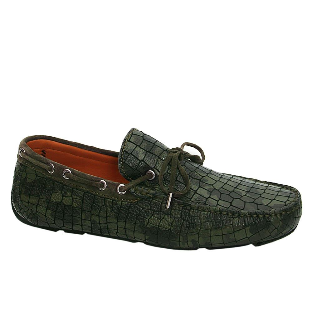 Camo Horatio Italian Leather Drivers Shoe