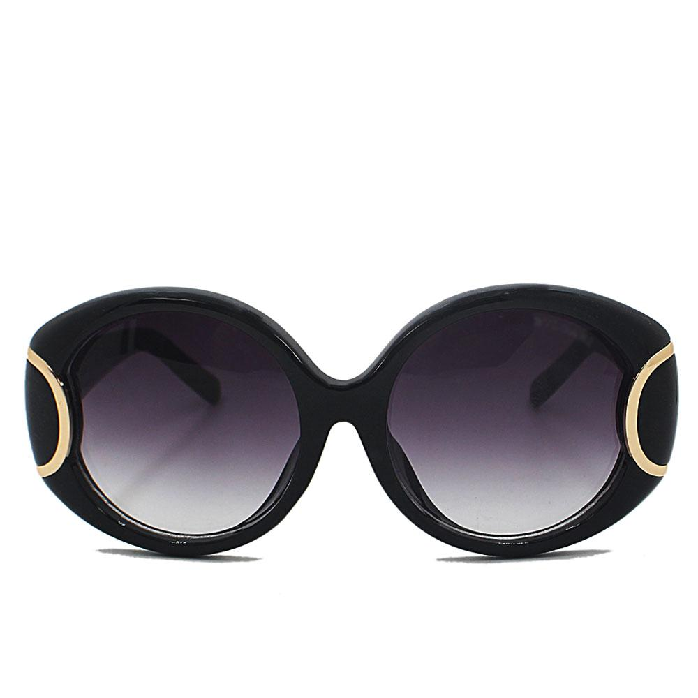 Black Round Face Woman Sunglasses