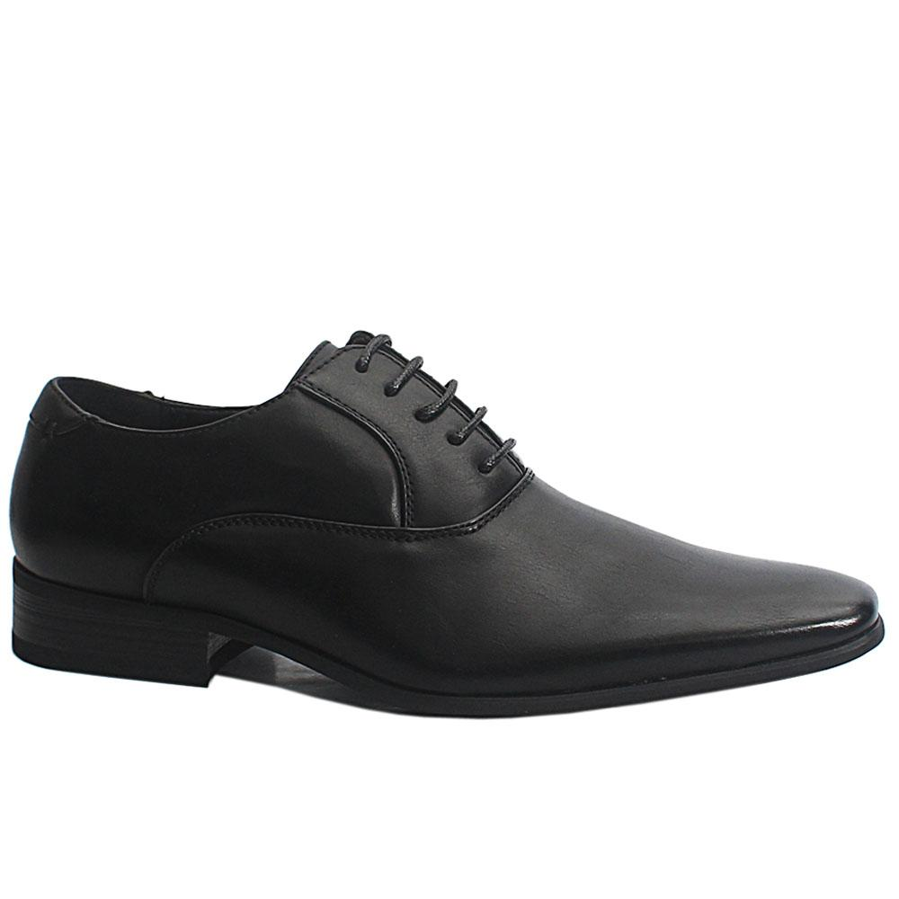 Black Josh Leather Men Oxford Shoes