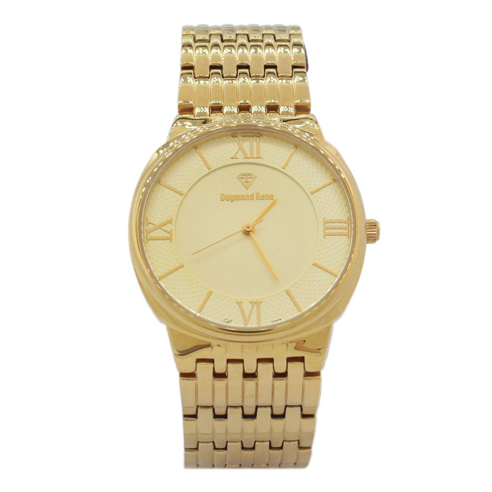 DR 3ATM Gold Stainless Steel Flat Watch