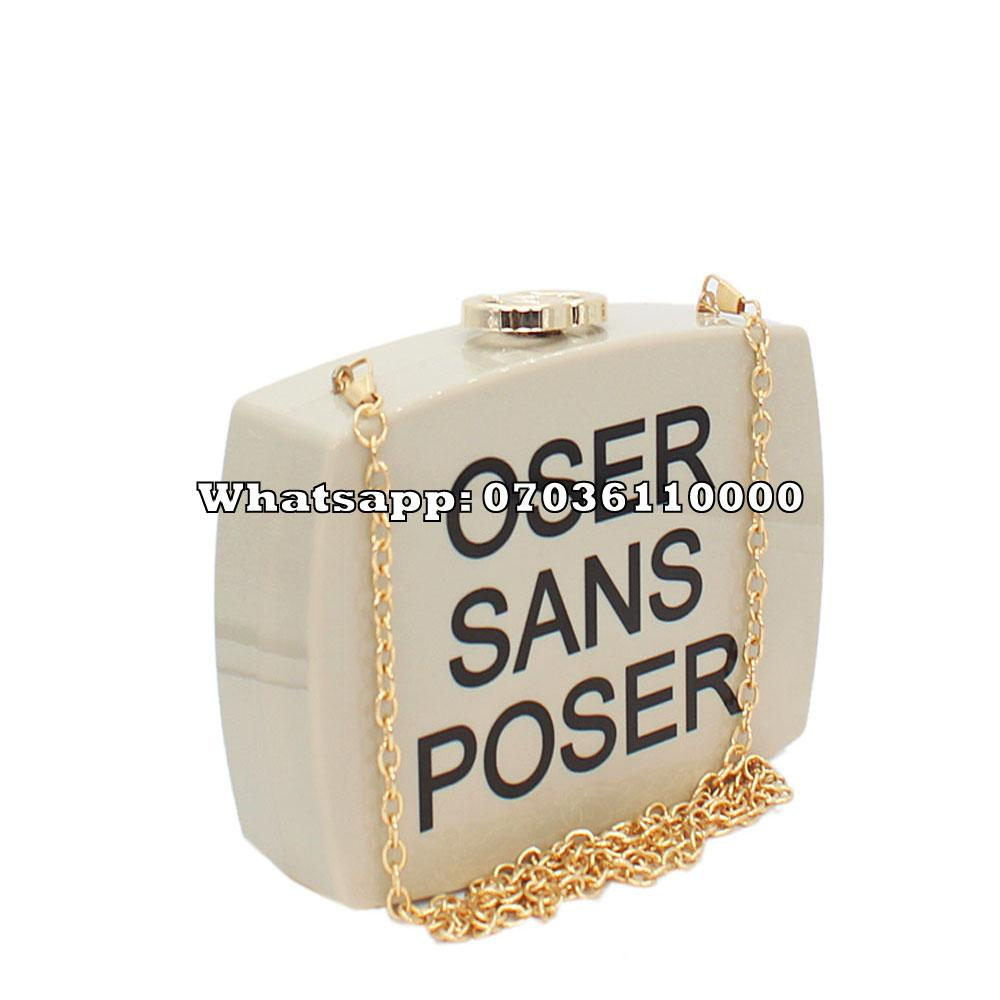 Off-White Classic Plastic Clutch Purse