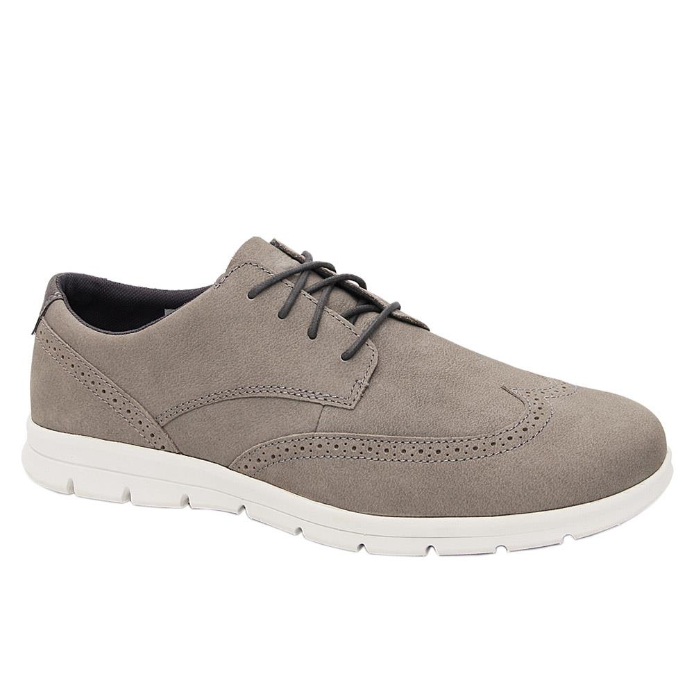 Gray Martinez Leather Comfort Sole Sneakers