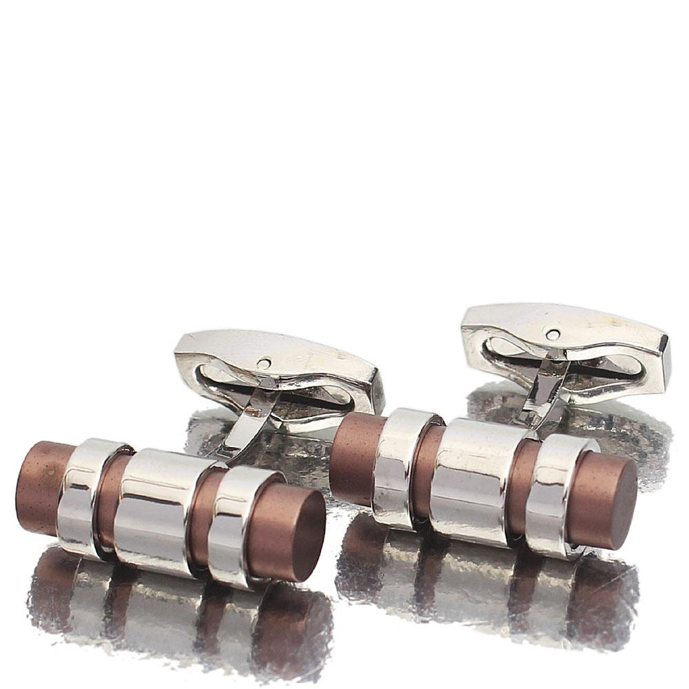 Iron Silver Stainless Steel Cufflinks