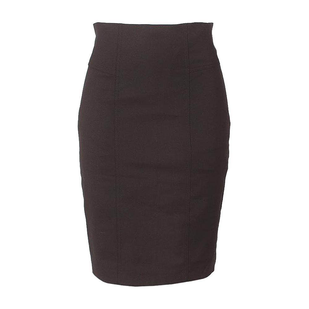 Black Zip Skirt Uk 12 L 24