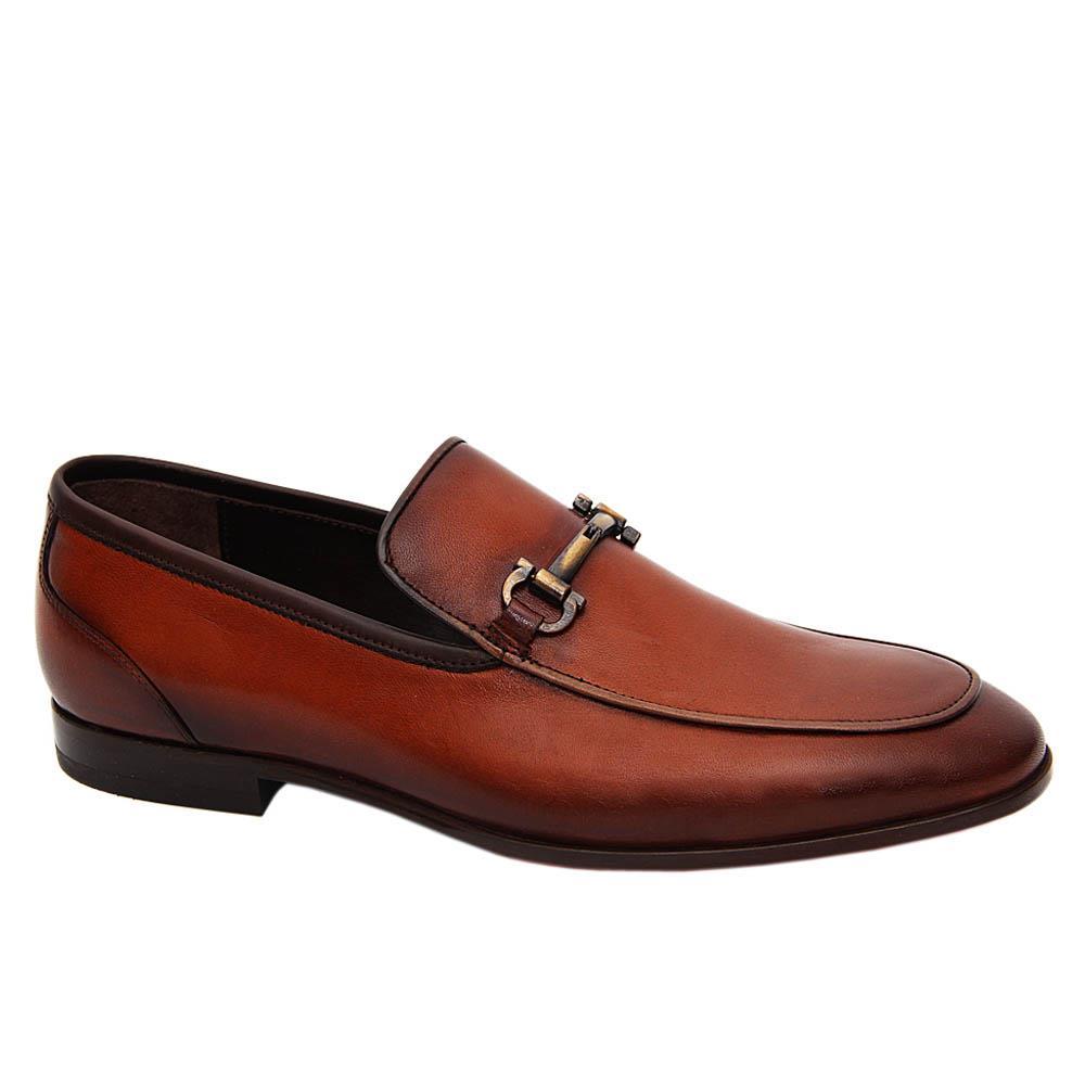 Brown Galileo Italian Leather Loafers