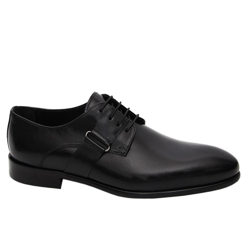 Black Narciso Italian Leather Derby Shoe