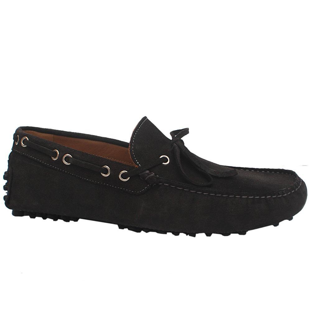 Sz 45 MII Dark Green Cam GRI Suede Leather Loafers