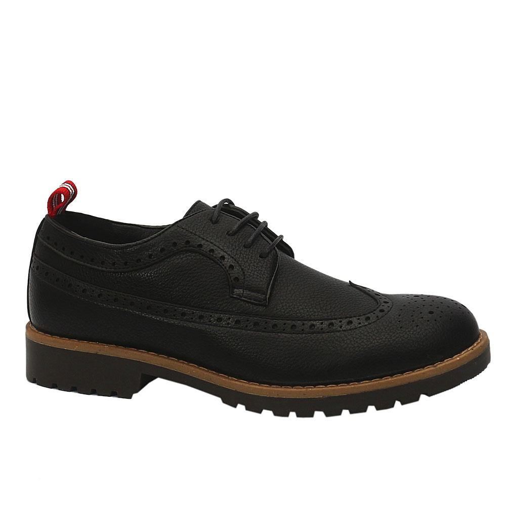 Sz 46 DDM Black Bradford Leather Sneakers