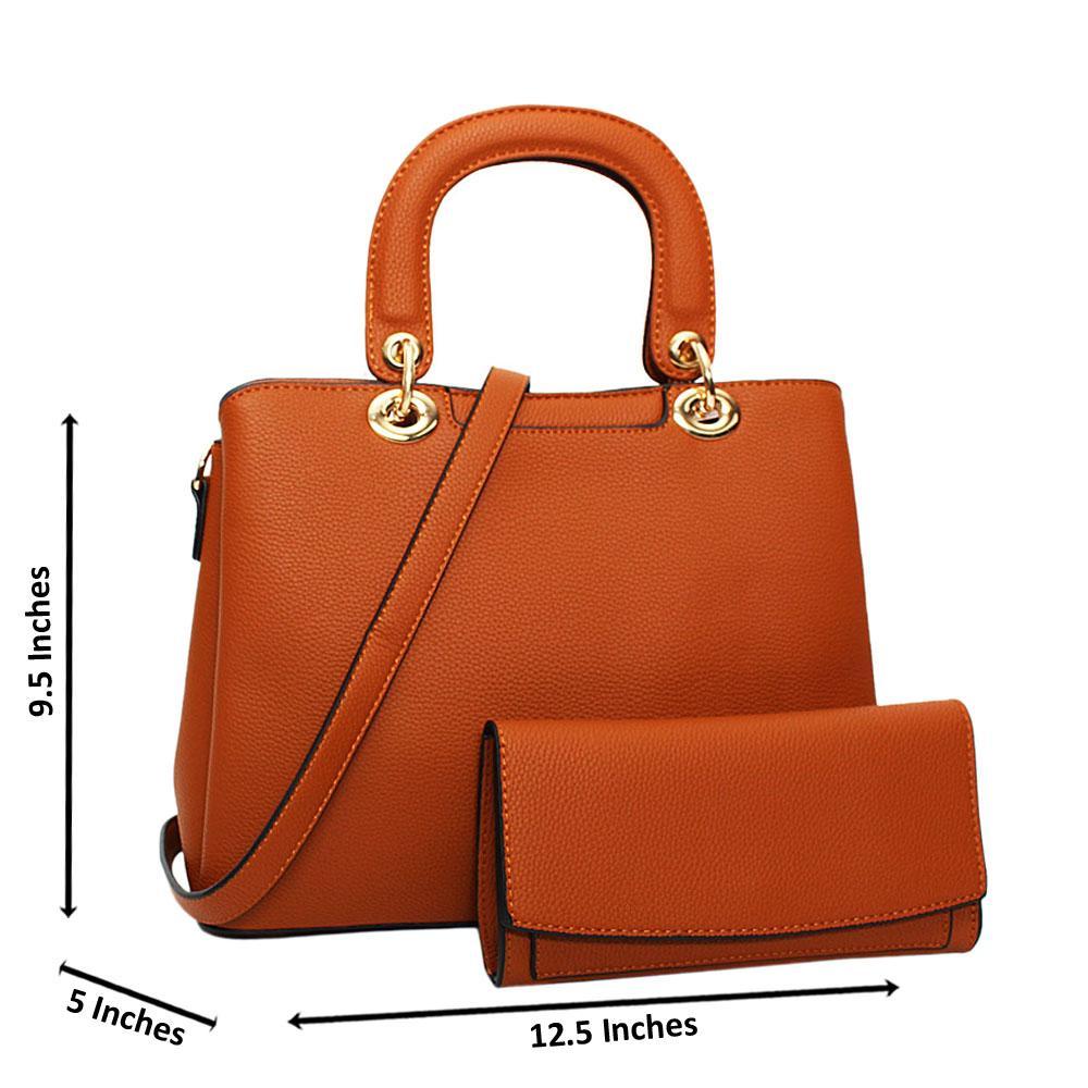 Brown Layla Leather Medium Tote Handbag