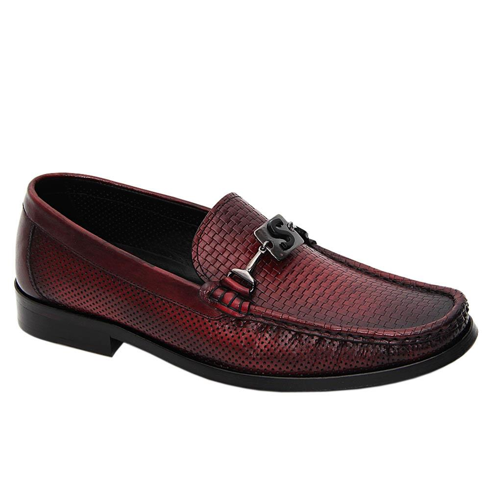 Burgundy Paredes Italian Leather Breathable Loafers