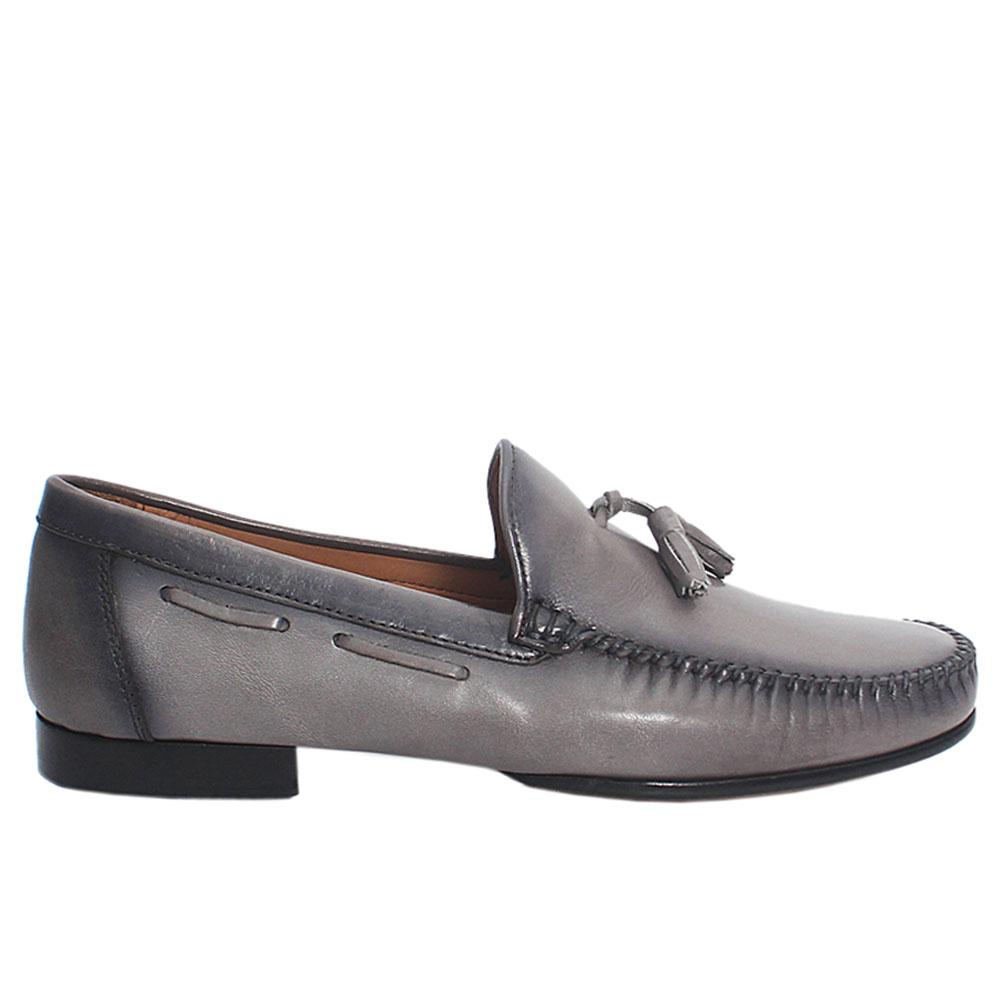 Gray SB Andrea Italian Leather Loafers