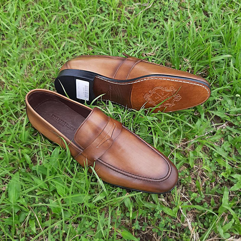 Brown Sahra Italian Leather Loafers