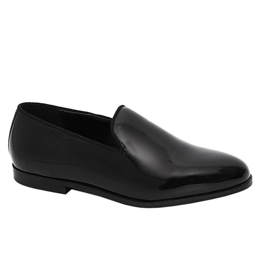 K Geiger Black Trevor Patent Leather Loafers