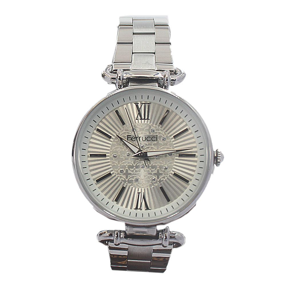 Ferrucci Romania Silver Mesh Ladies Watch