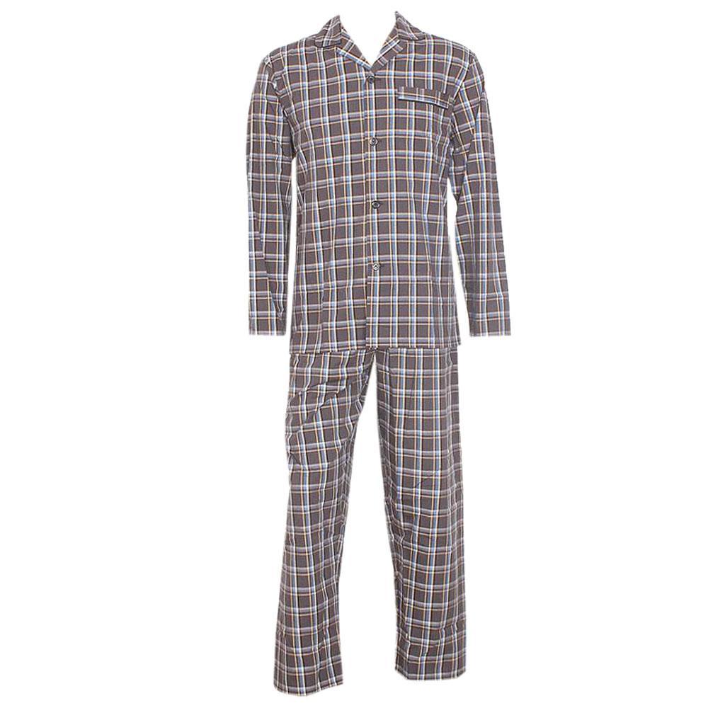 M & S Man Gray Mix L Sleeve Men Pyjamas  L