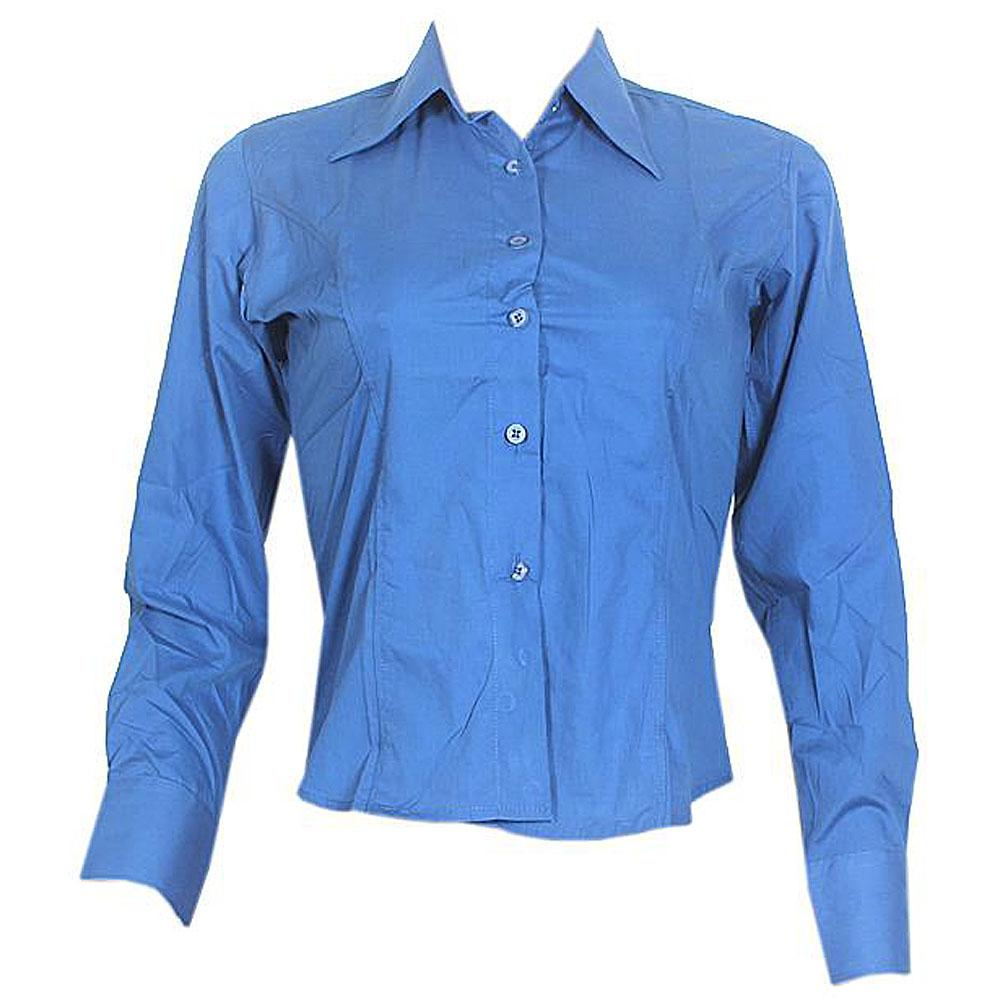 Pradizo Blue Ladies L-Sleeve Shirt-XS