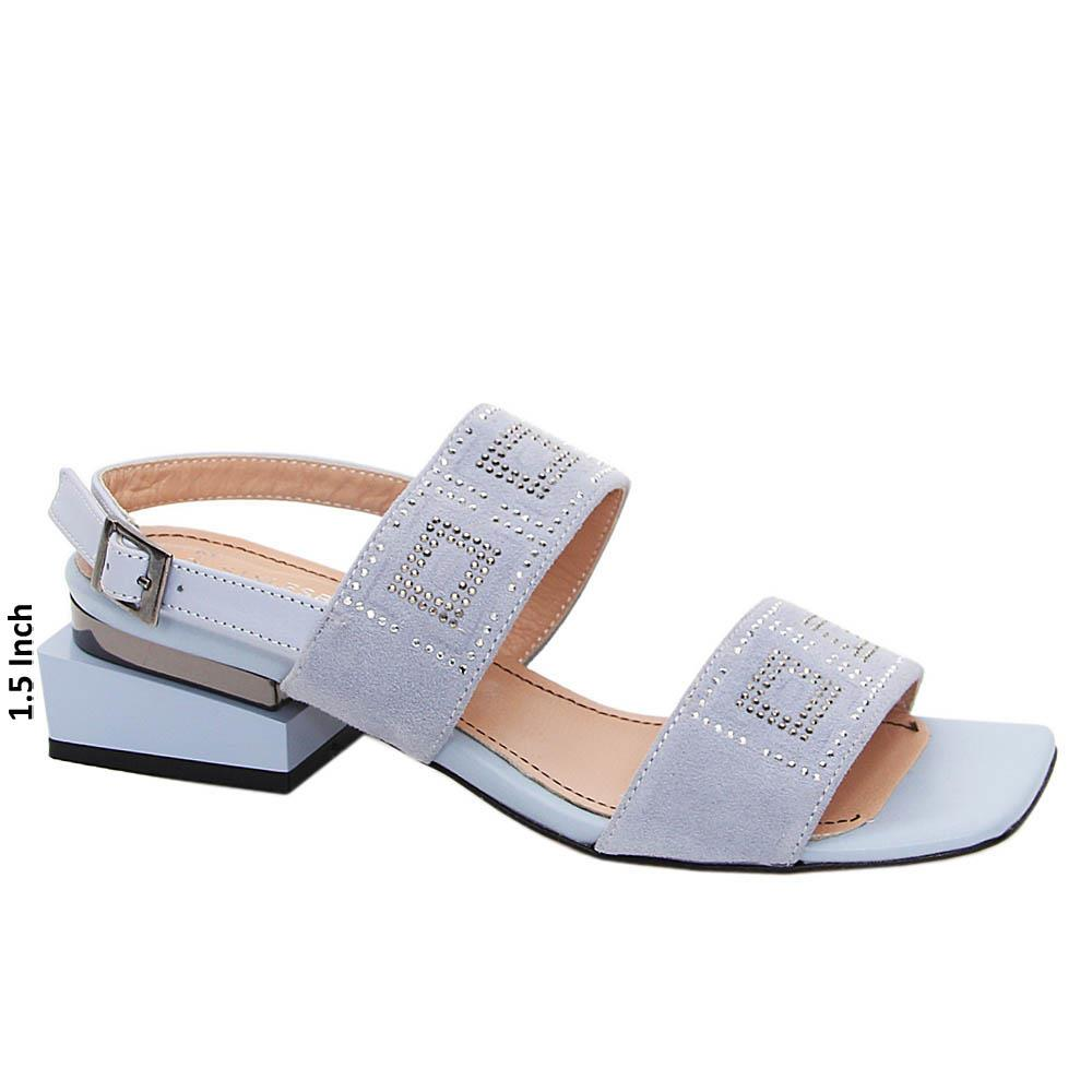 Sky Blue Maria Tuscany Suede Leather Sandals
