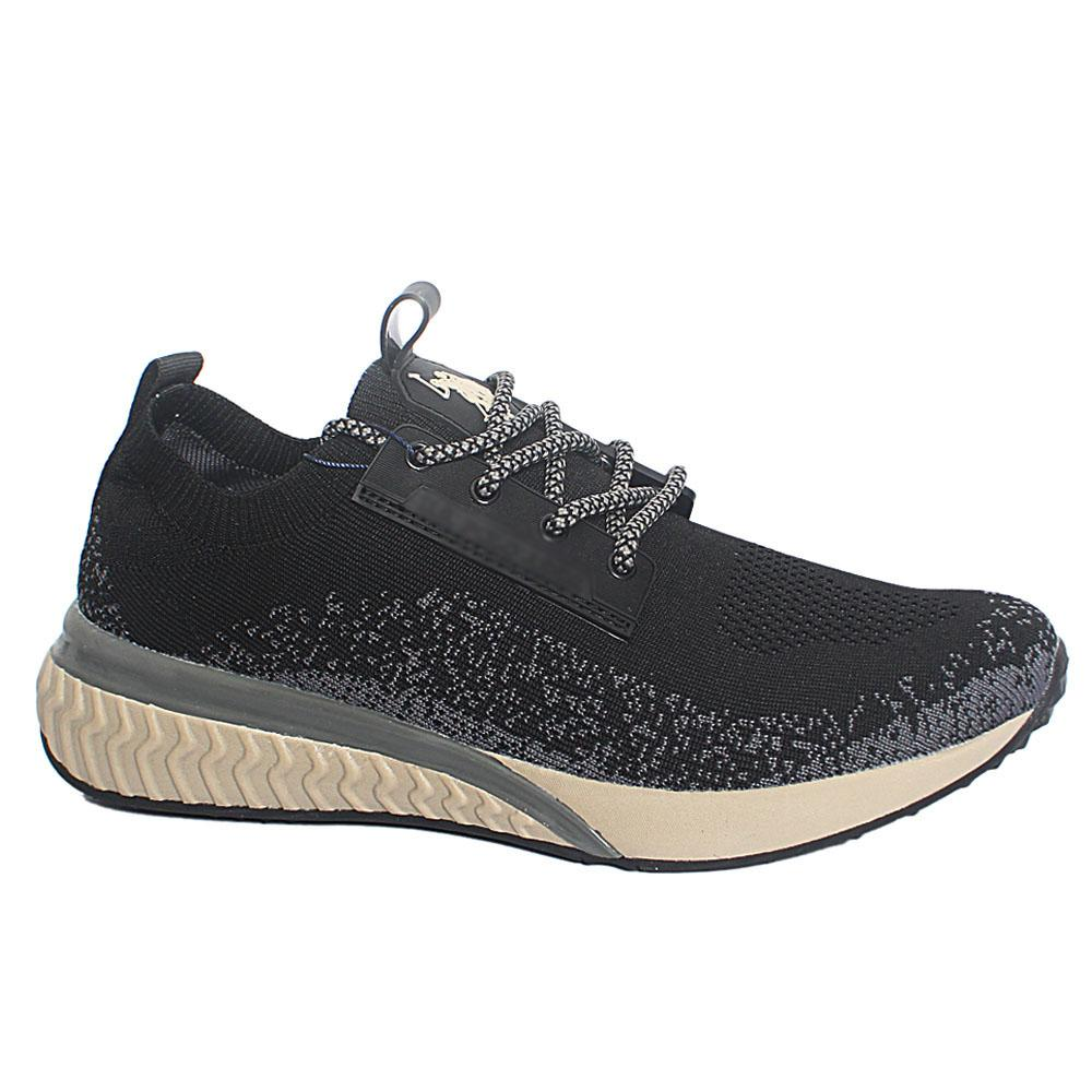 Black Elser Fabric Breathable Sneakers