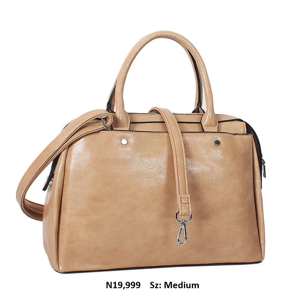 Beige Bertha Leather Tote Handbag