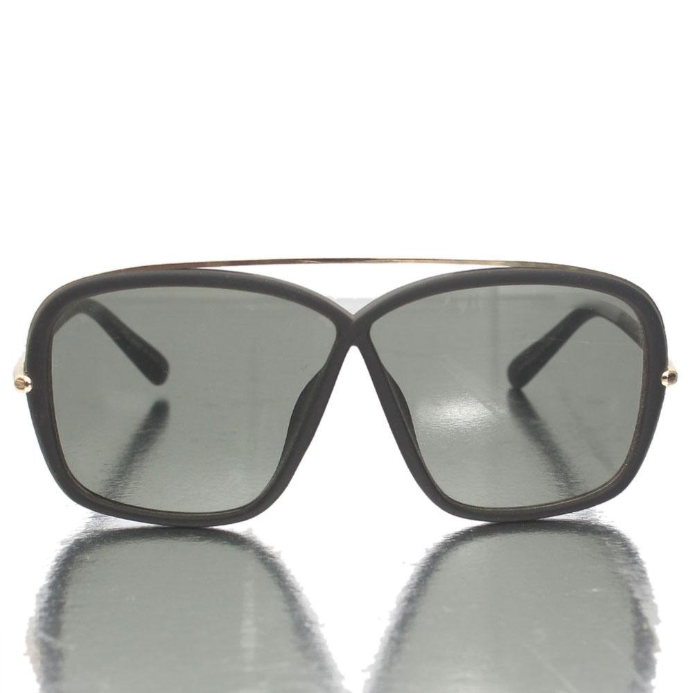 Gold Black Shield Lens Sunglasses
