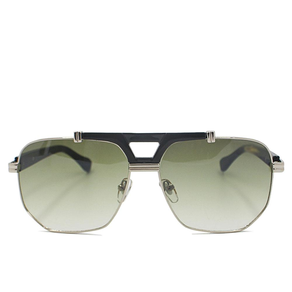 Black Silver Aviator Sunglasses