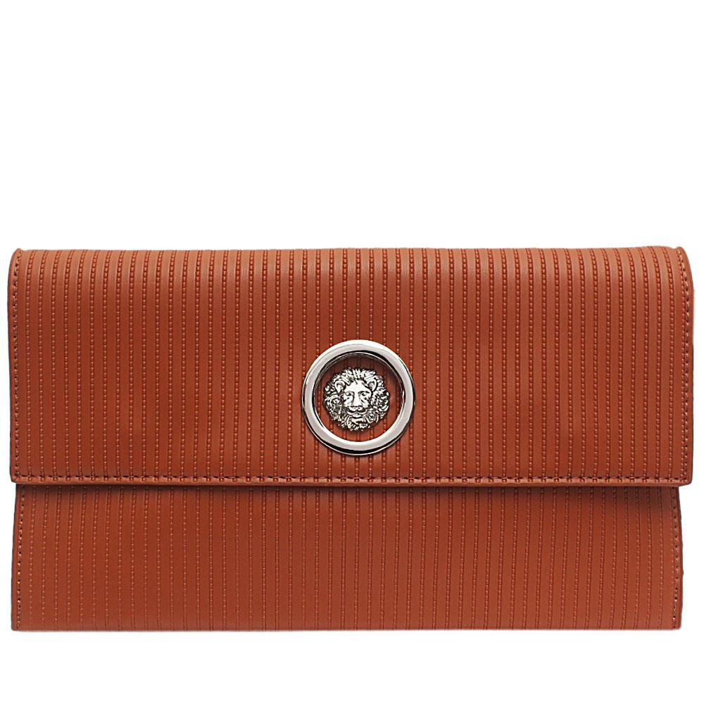 Brown Saphire Leather Flat Purse
