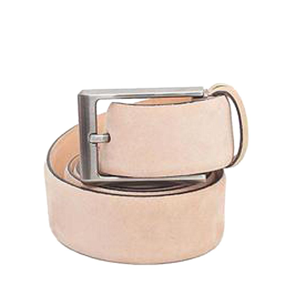 Beige Leather MenBelt-L 44 Inches