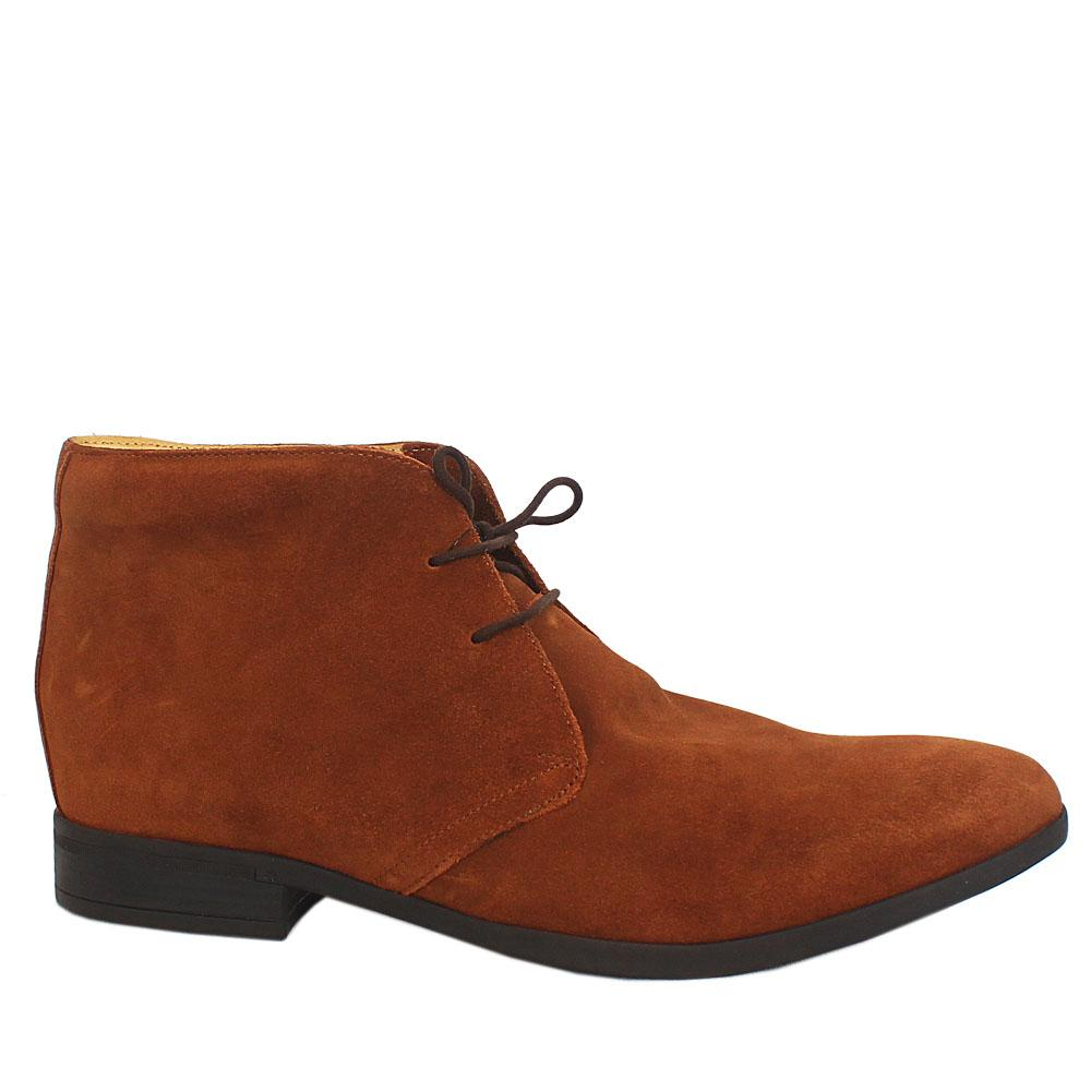 Brown Suede Men Ankle Shoes
