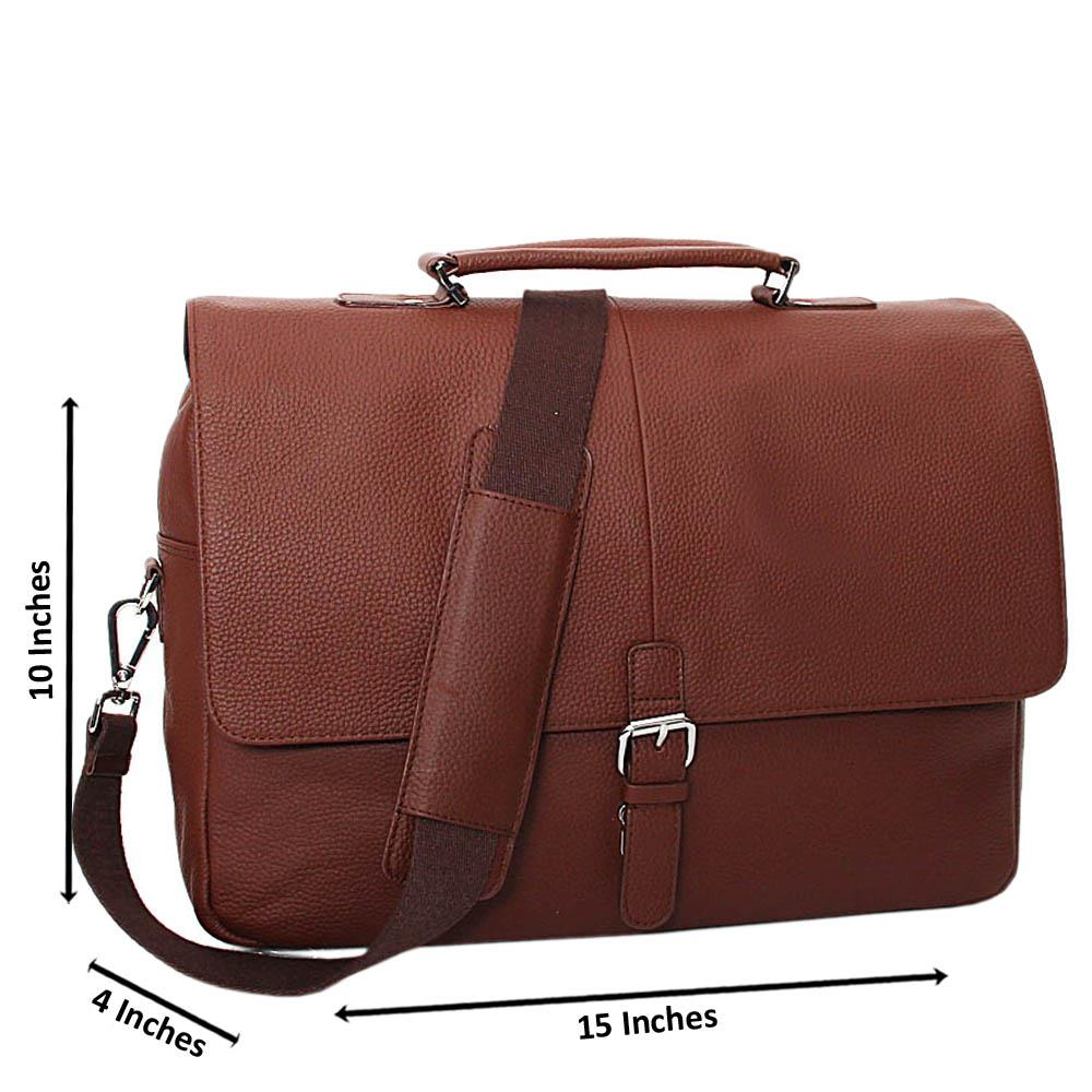 Brown Nathan Pure Leather Briefcase