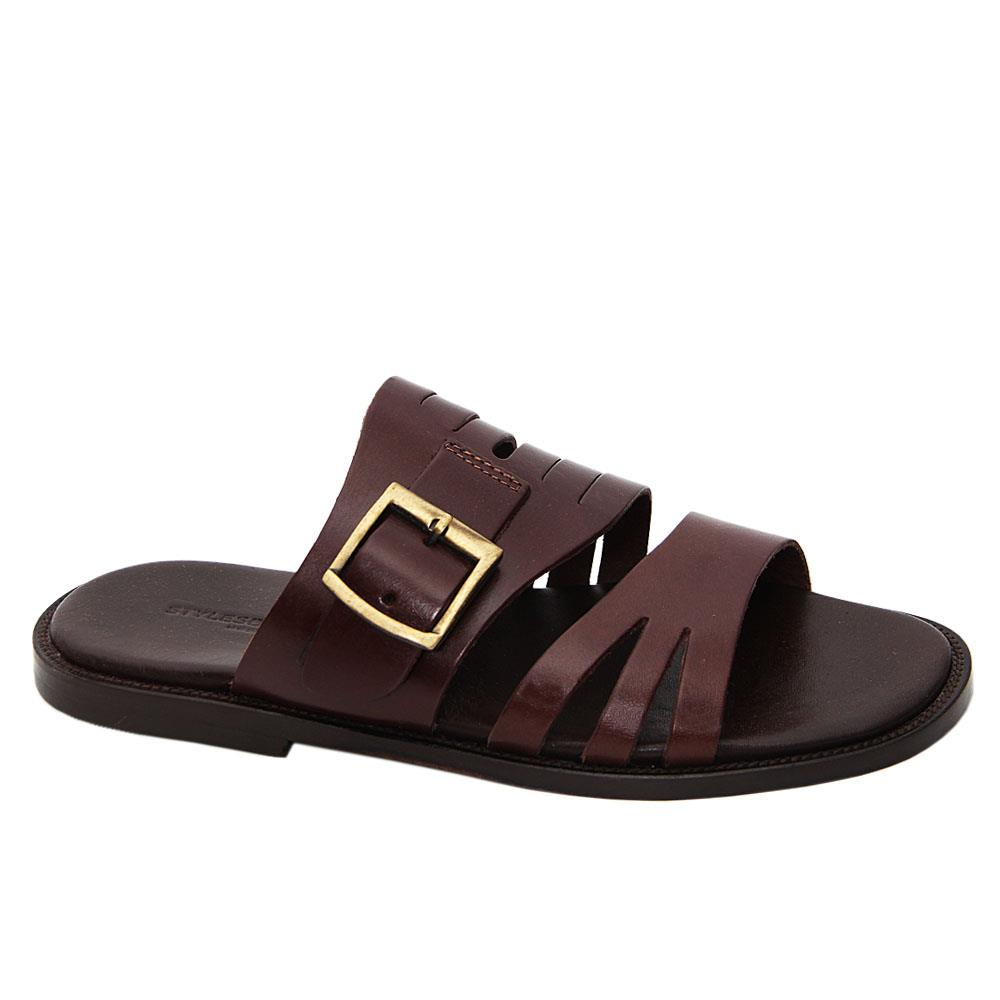 Coffee Eduardo Elias Italian Leather Slippers