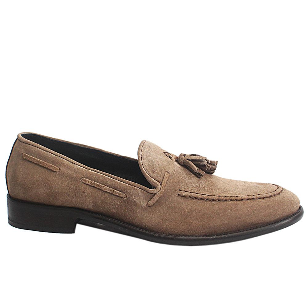 Khaki Anemaecore Italia Suede Leather Loafers
