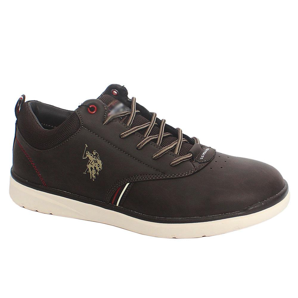 Coffee Nubuck Eco Leather Sneakers