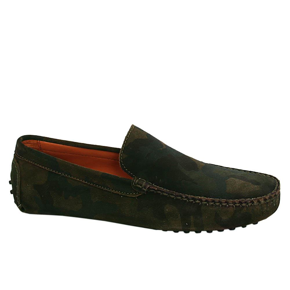 Camo Foster Suede Italian Leather Drivers Shoe