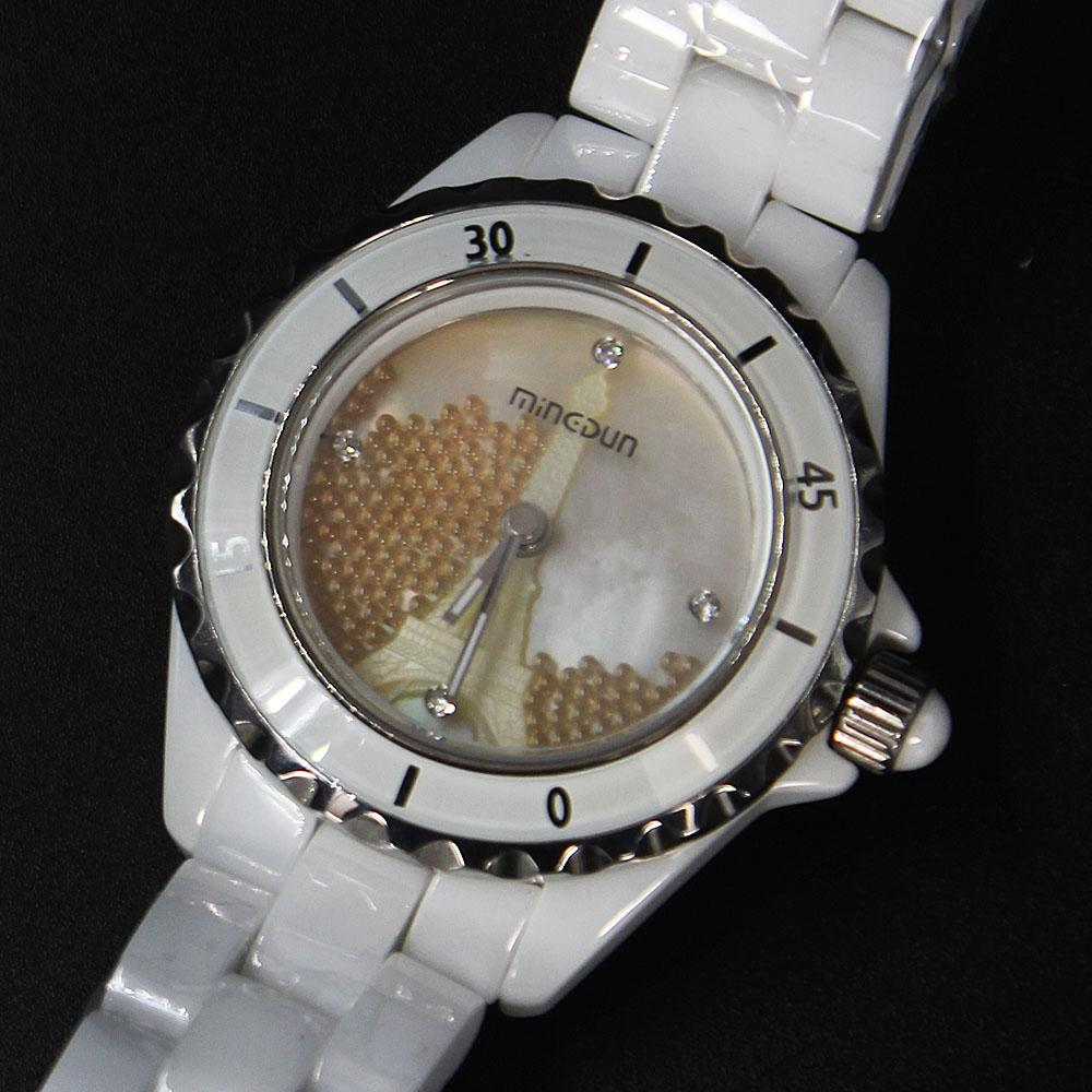 Empire Paris Orange Stone  Divers Ceramic Ladies Watch