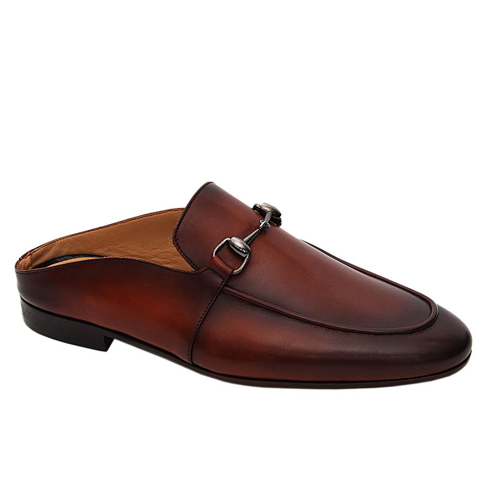 Brown Flavio Italian Leather Half Shoe