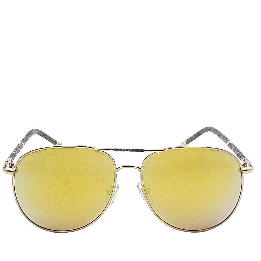 Gold Aviator Polarized Lens Sunglasses