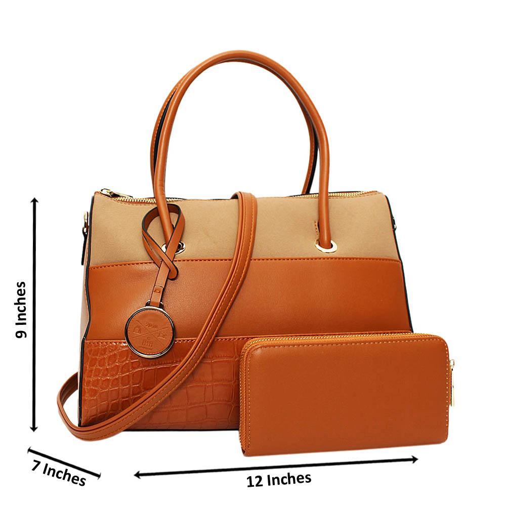 Brown Morgan Leather Medium Tote Handbag