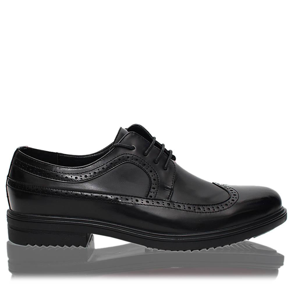 Black Richard Patent Leather Men Derby Shoes