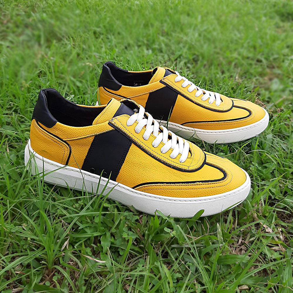 Yellow Donato Italian Leather Sneakers