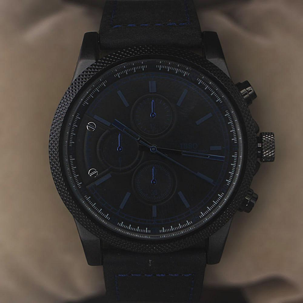 Legend Black Blue Leather Watch