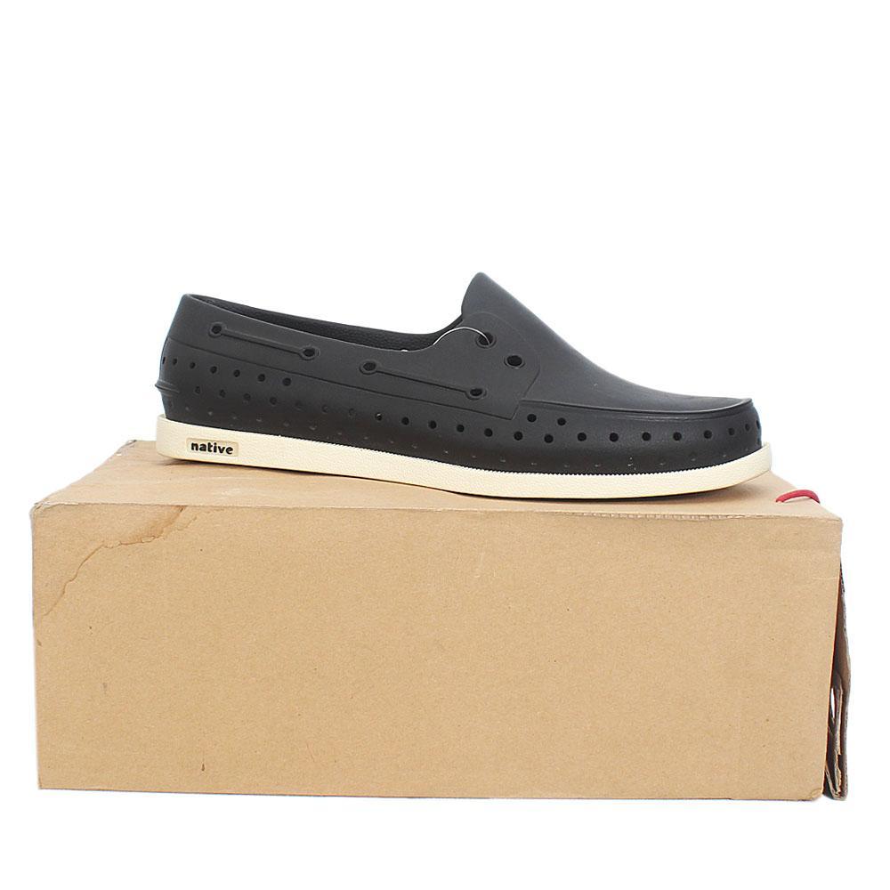 Native Black White Rubber Men Shoe Sz 46