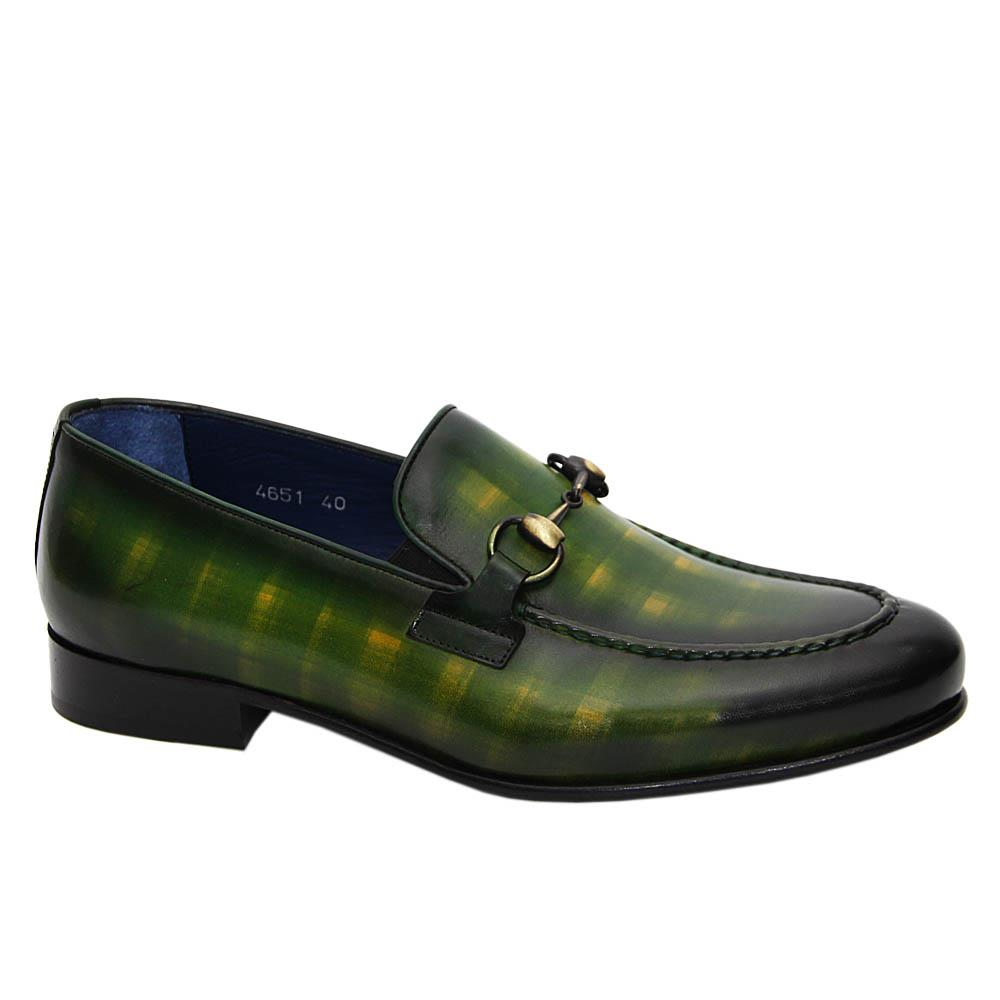 Green Adriano Italian Leather Loafers