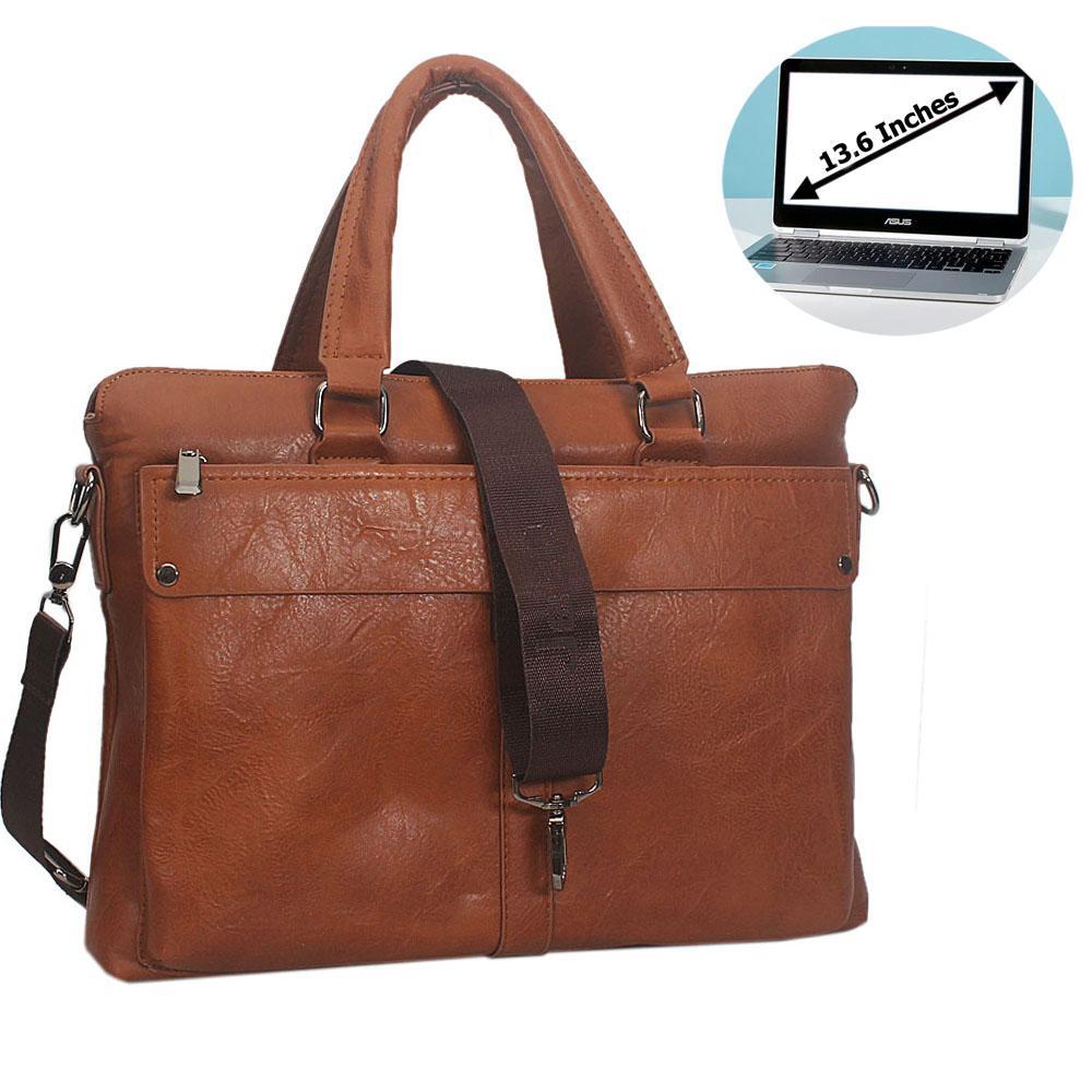 Brown Rodrigo Leather Briefcase