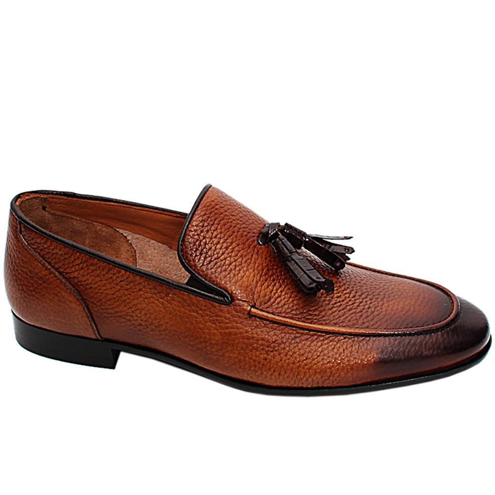 Brown Francesco Italian Leather Men Tassel Loafers