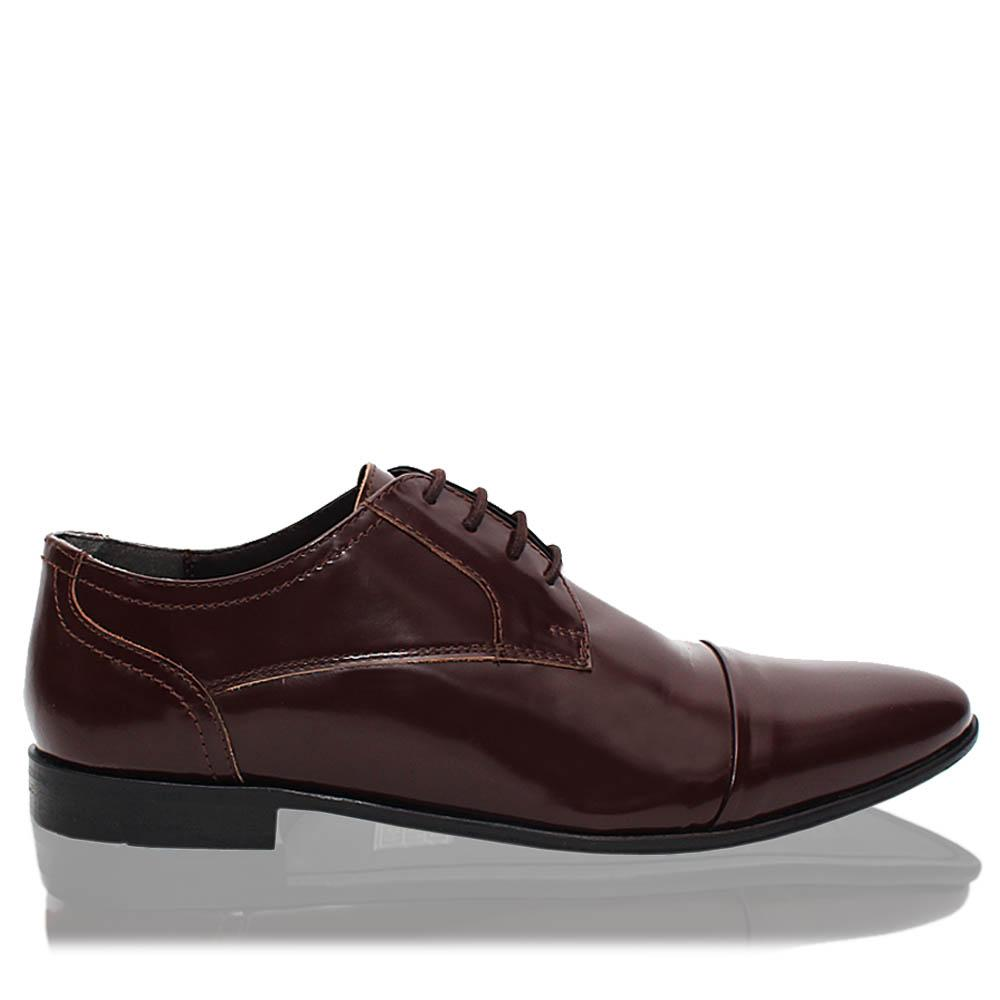Wine-Newry-Leather-Men-Derby-Shoes