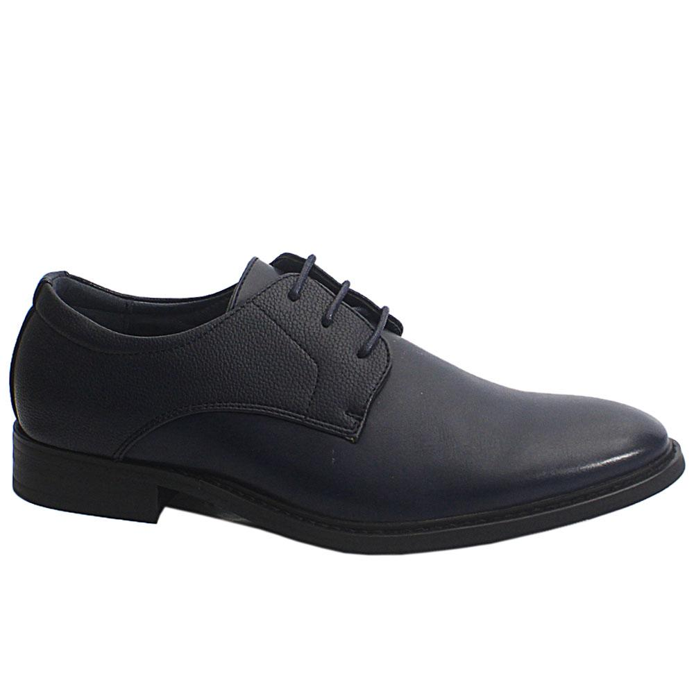 Navy Bart Leather Men Shoe