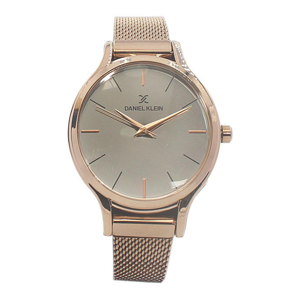 Daniel Klein Rose Gold Stainless Mesh Ladies Watch