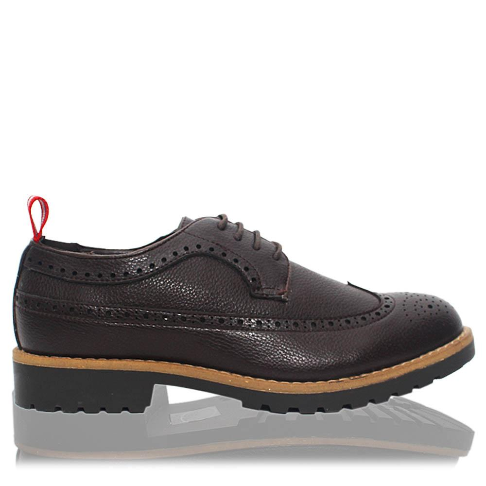 Coffee Brown Bradford Leather Men Derby Shoes